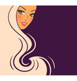 woman hair back vector image
