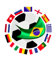 European Zone Qualification in A Brazil 2014 vector image