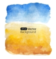 Summer sunny landscape background vector image
