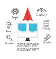 243paper plane startup drawing vector image