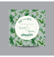 Tropical Palm Leaves Wedding Invitation Card vector image