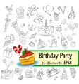 Birthday Party Sketch Set vector image