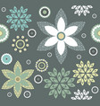 decorative pattern with stylish floral elements vector image
