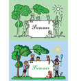 family frame summer vector image