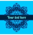 Invitation in kaleidoscopic frame background vector image