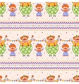 Seamless pattern with big and small clowns vector image