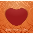 Valentines Day realistic textile Heart Card vector image