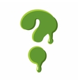 Question mark made of green slime vector image