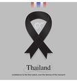 Black ribbon mourning sign for SIAM sad news vector image
