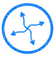 curve arrows rounded grainy icon vector image