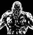grim zombie attack grim zombie vector image