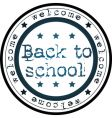 back to school stamp vector image vector image