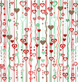 Christmas garlands with hearts vector image vector image