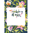 Greeting card with tulips vector image vector image