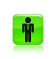 elegant worker icon vector image vector image