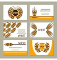 Business cards with wheat Design for agricultural vector image vector image