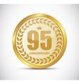 Template Logo 95 Years Anniversary vector image