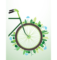 Bicycle green vector image