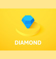 diamond isometric icon isolated on color vector image