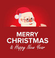 merry christmas greeting card with santa claus vector image