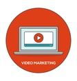 Video marketing outline flat concept vector image