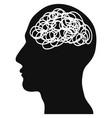 confused head vector image vector image