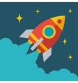 Start up business rocket concept in flat style vector image