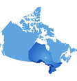 Map of Canada - Ontario province vector image