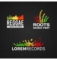 Set of reggae music equalizer logo emblem vector image vector image