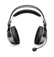 computer headset microphone vector image