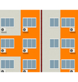 apartment buildings vector image vector image