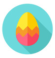 Easter Egg with Zigzag Decor Circle Icon vector image