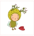 Forest Fairy and heart vector image
