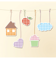 Cute objects on strings vector image