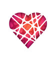 abstract polygonal heart abstract modern vector image
