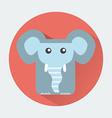 Elephant Baby Animal Icon vector image