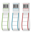 Luggage tags with barcodes vector image