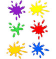 paintball color splash set vector image