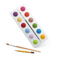 Palette for watercolor paint vector image