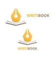 pen and book logo concept vector image