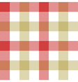 Red beige check plaid seamless pattern vector image