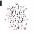Script alphabet 3 vector image