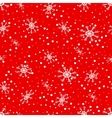 Seamless pattern of falling snowflakes vector image