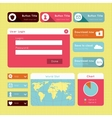 Simple flat modern UI design website elements vector image
