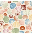 Colorful sea shells seamless pattern vector image
