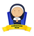 Wordcard with occupation christian nun vector image