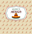 welcome to mexico concept chili pepper background vector image