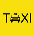 taxi icon symbol vector image vector image