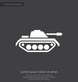 tank premium icon vector image