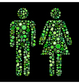 men and women shapes vector image vector image
